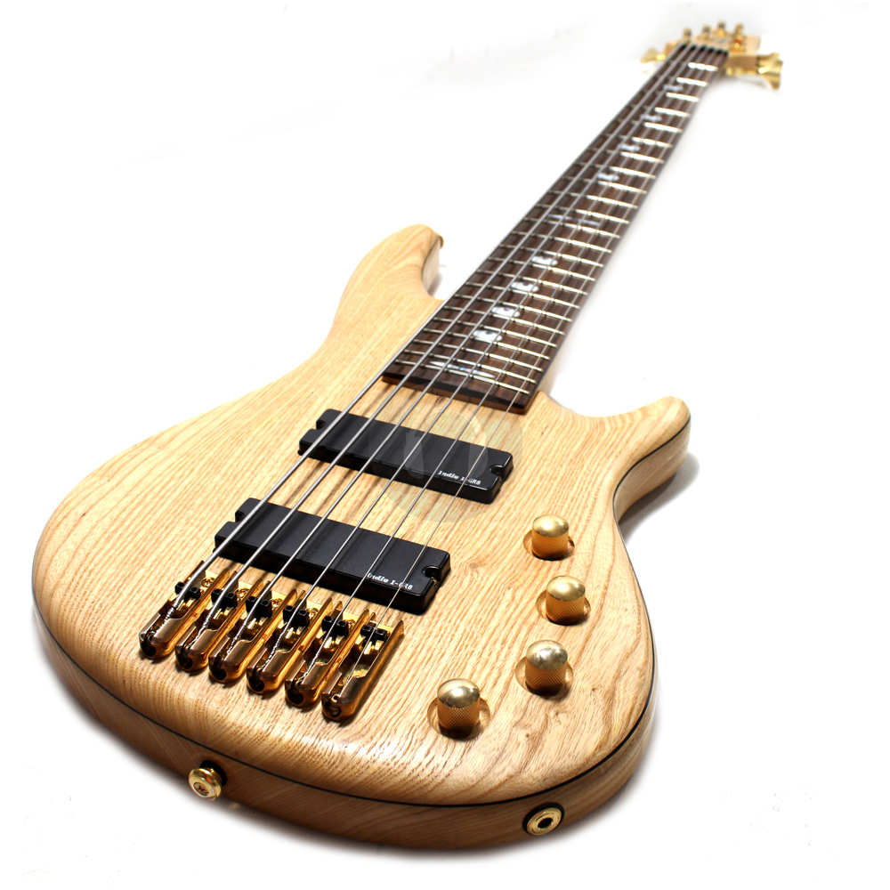 Indie Swamp Ash 6 String Active Electric Bass Guitar