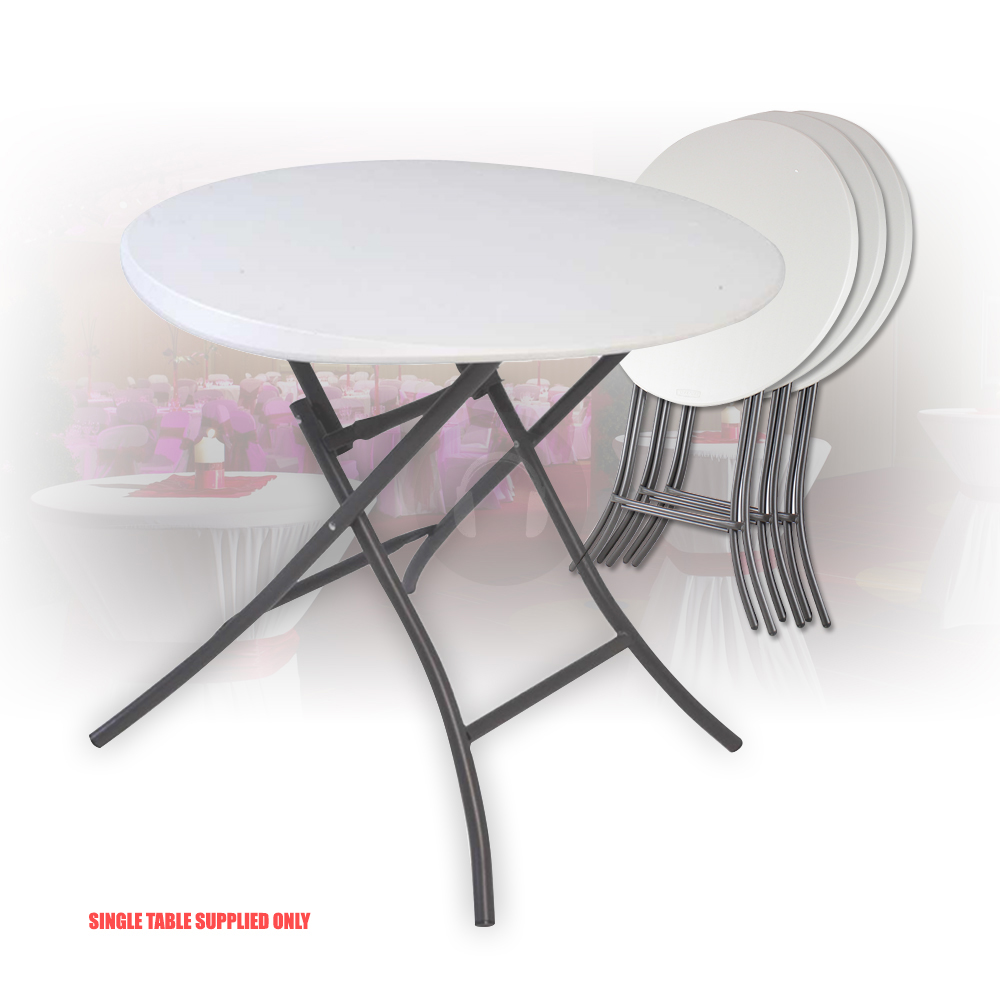 Lifetime Folding Round Cocktail Table 2 4 Seater Indoor