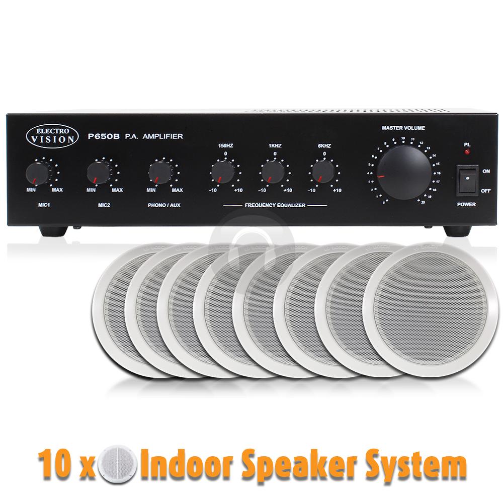 10x bosch 100v line ceiling speaker amplifier background music sound pa system ebay. Black Bedroom Furniture Sets. Home Design Ideas