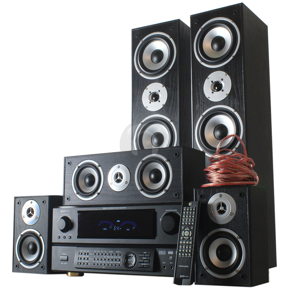 870w 5 speaker surround sound home cinema system and dsp. Black Bedroom Furniture Sets. Home Design Ideas