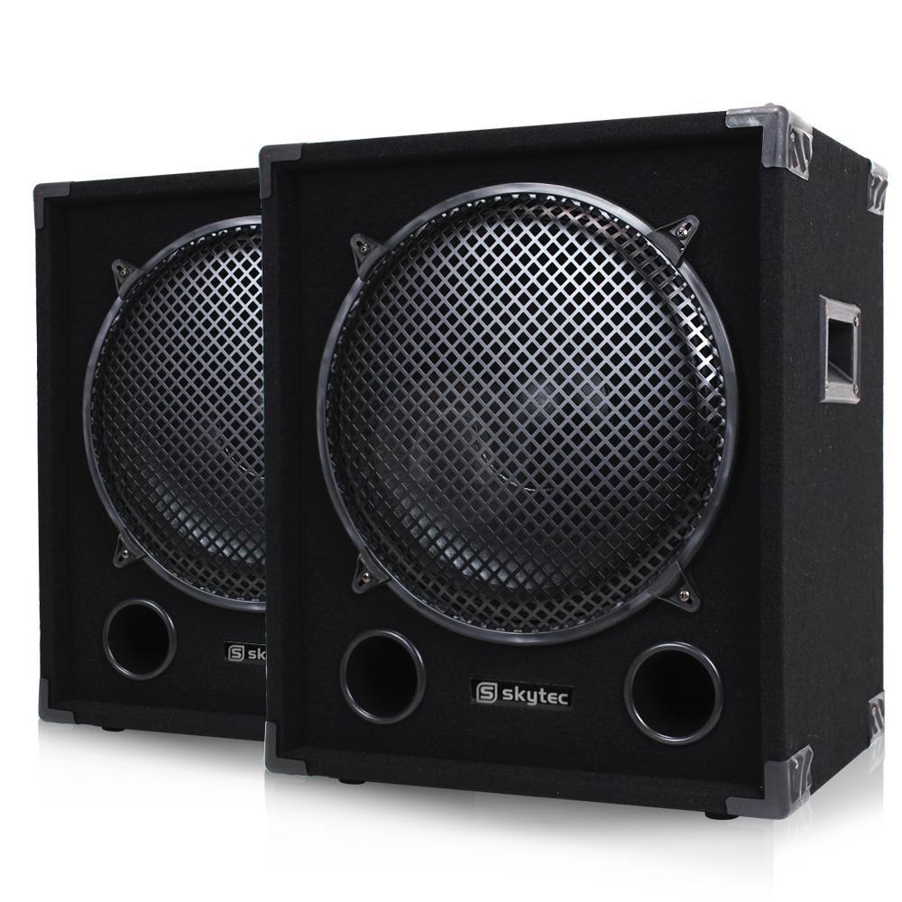 2000w ekho max15sub 15 inch subwoofer bass speakers dj. Black Bedroom Furniture Sets. Home Design Ideas
