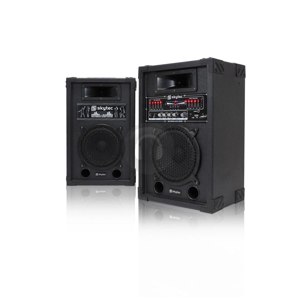 home hifi 600w active pa disco karaoke speaker usb mp3 instructor sound system ebay. Black Bedroom Furniture Sets. Home Design Ideas