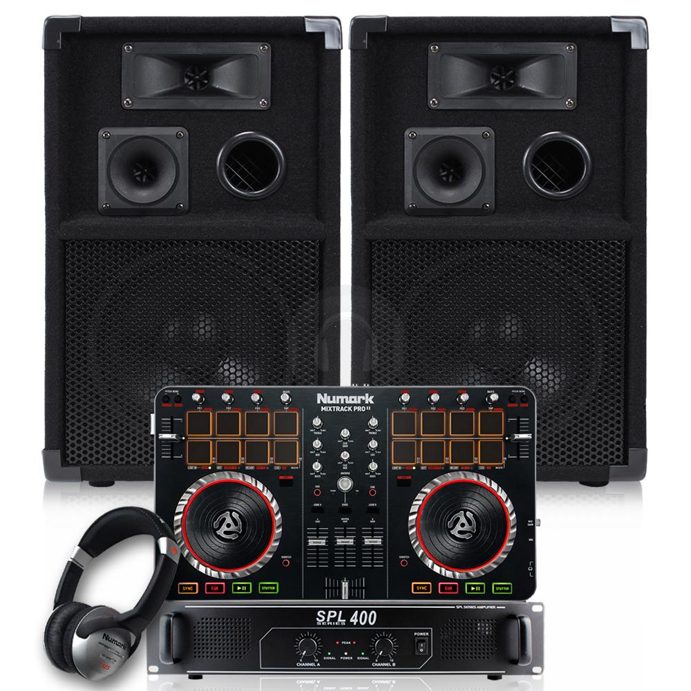 400w complete home dj speakers amplifier mixer bedroom studio package set 83 ebay. Black Bedroom Furniture Sets. Home Design Ideas