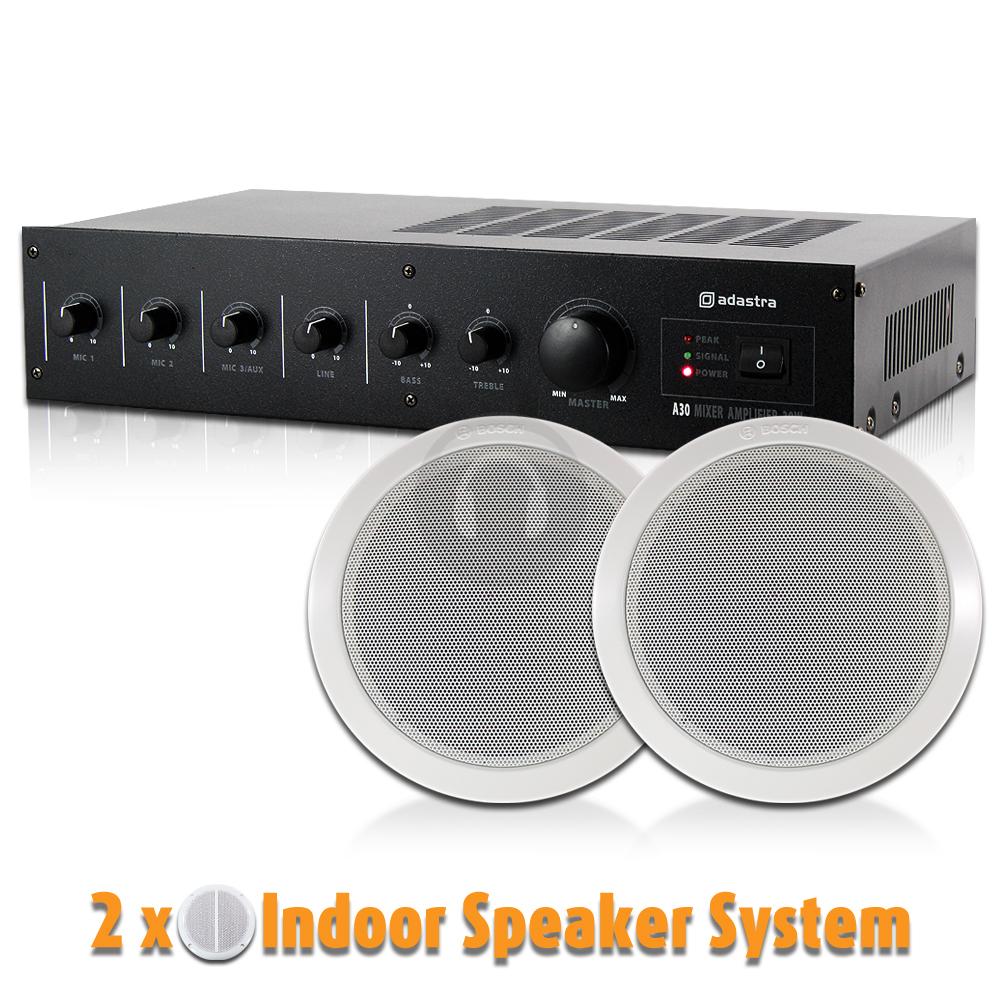 100v line speaker amplifier ceiling installation background music system bosch ebay. Black Bedroom Furniture Sets. Home Design Ideas