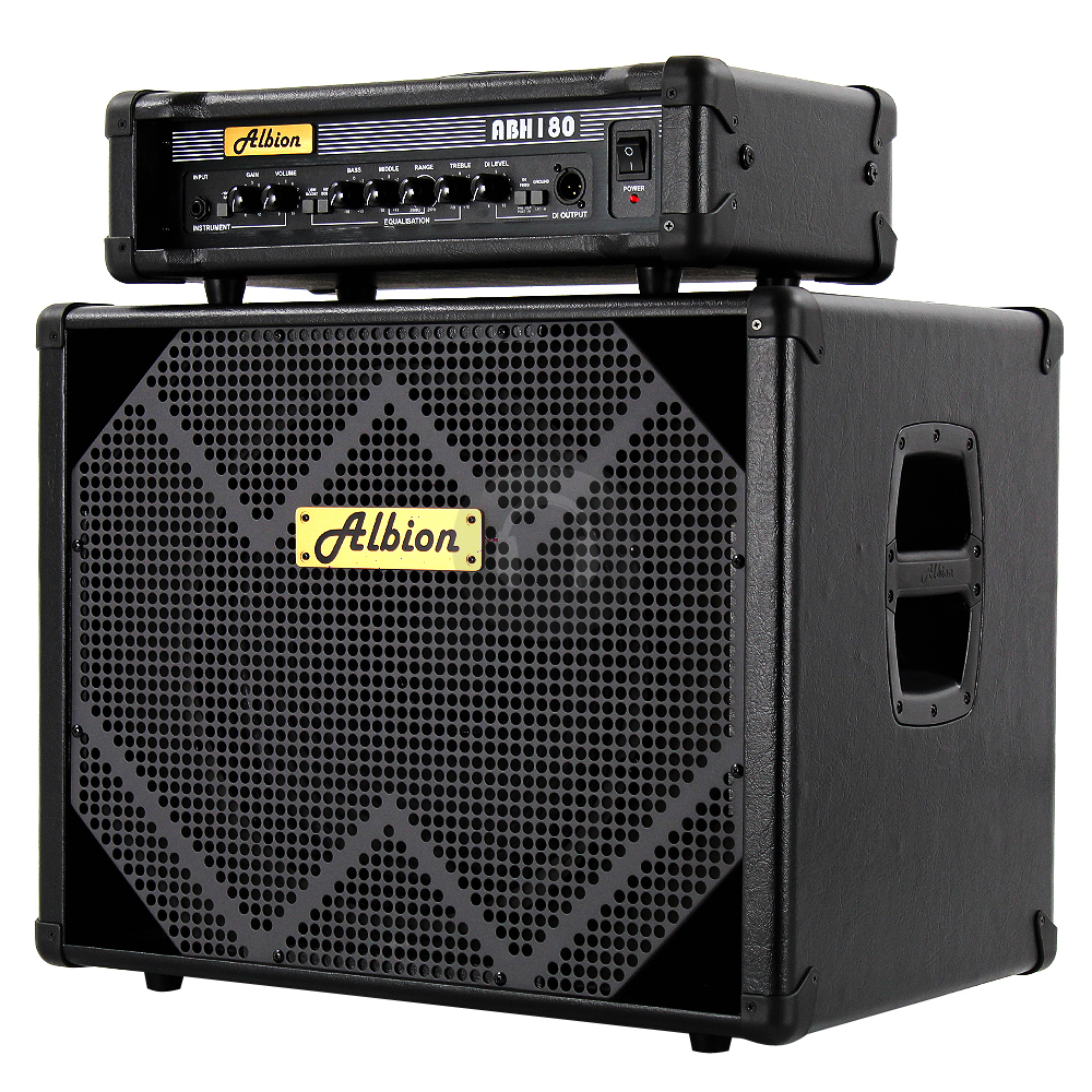 albion 180w bass guitar amp head 15 inch speaker cabinet essex ebay. Black Bedroom Furniture Sets. Home Design Ideas
