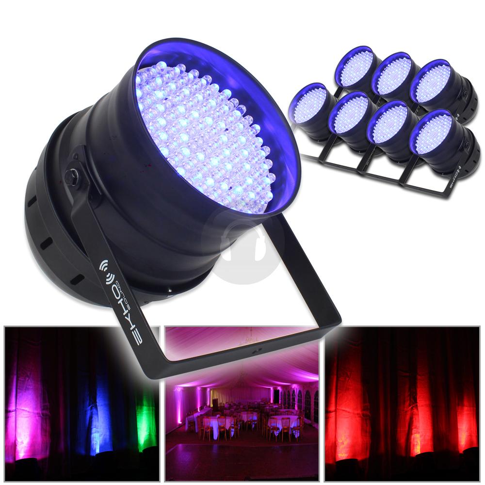 8x led par can lichter rgb dj disco party beleuchtung b hnen effekte parcan dmx ebay. Black Bedroom Furniture Sets. Home Design Ideas