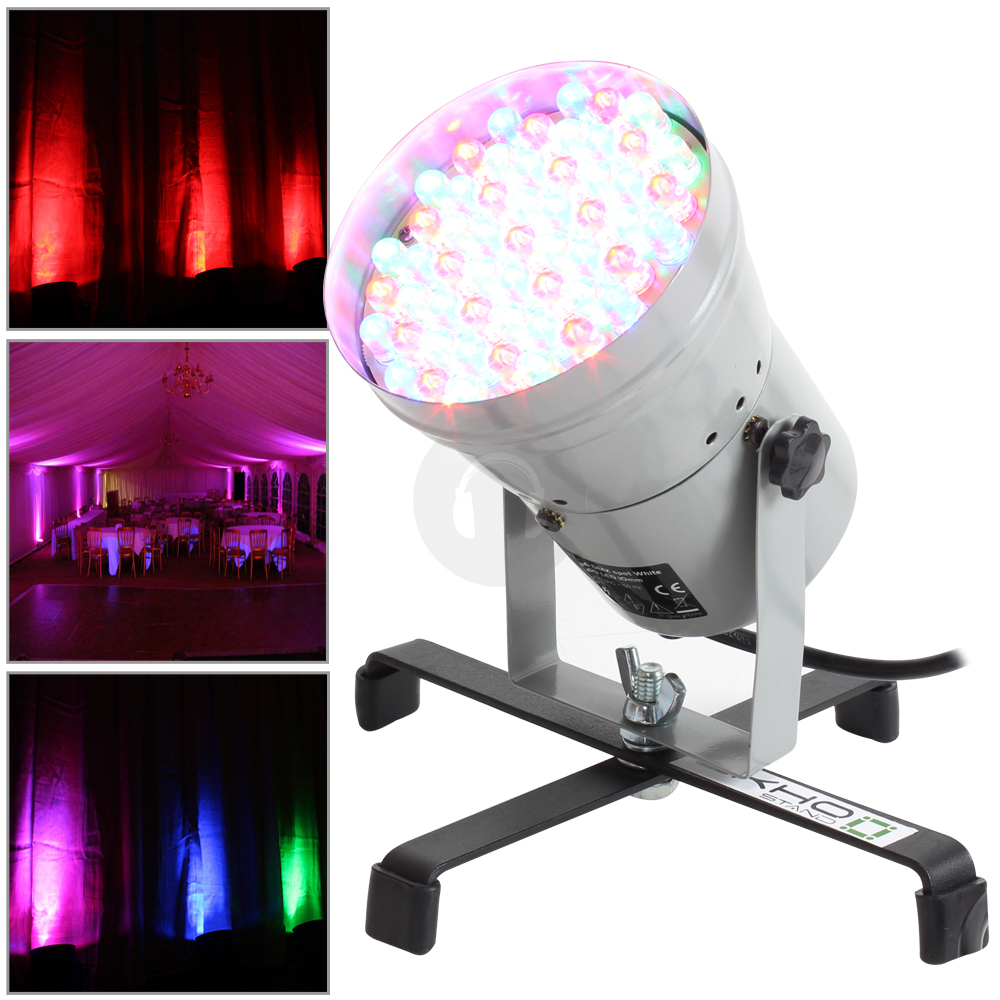 Can Floor Lights: Ekho LED DMX RGB Pinspot Par 36 Can Light Floor Stand DJ
