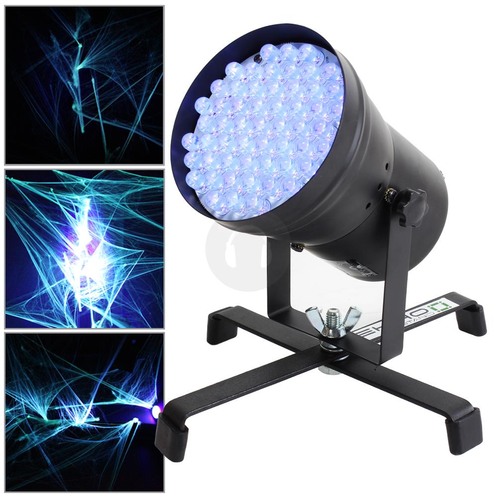 Can Floor Lights: Ekho LED DMX UV Par 36 Can Strobe Light Floor Stand DJ