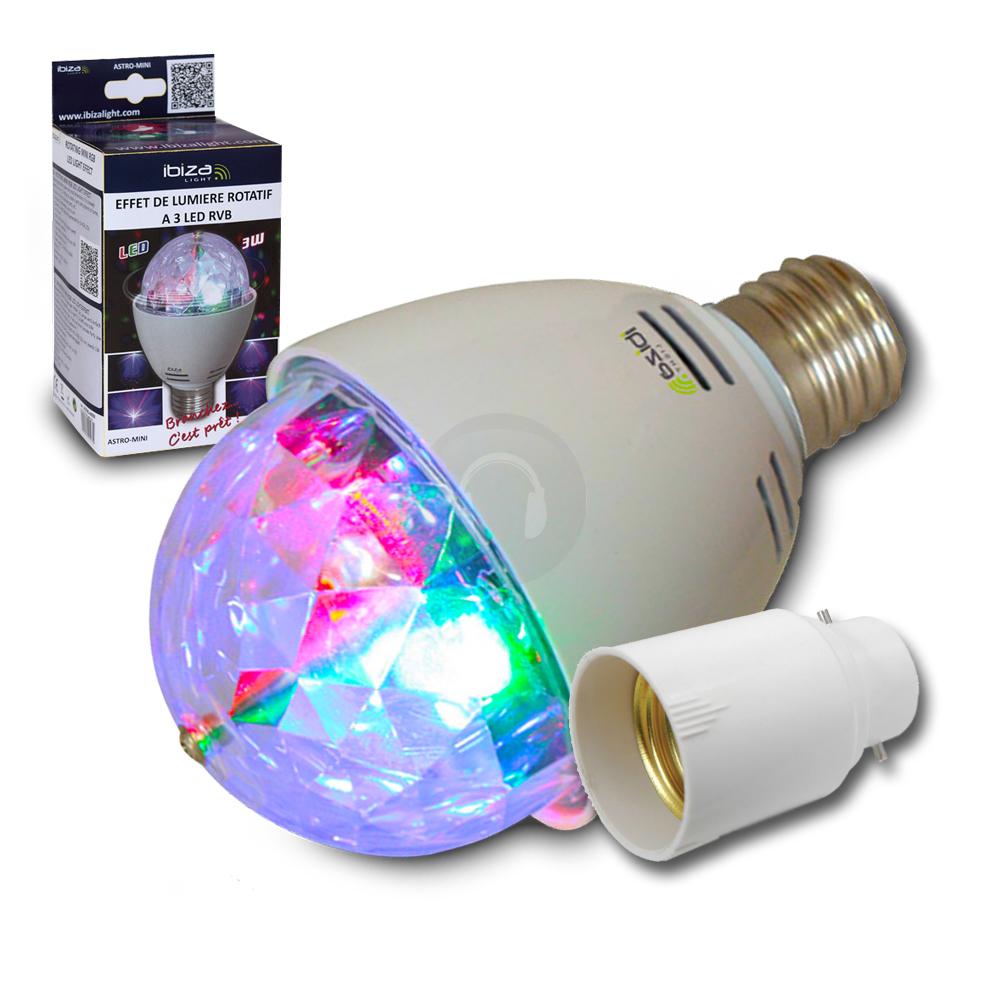 mini colour led light bulb bayonet adaptor disco party lighting ebay. Black Bedroom Furniture Sets. Home Design Ideas