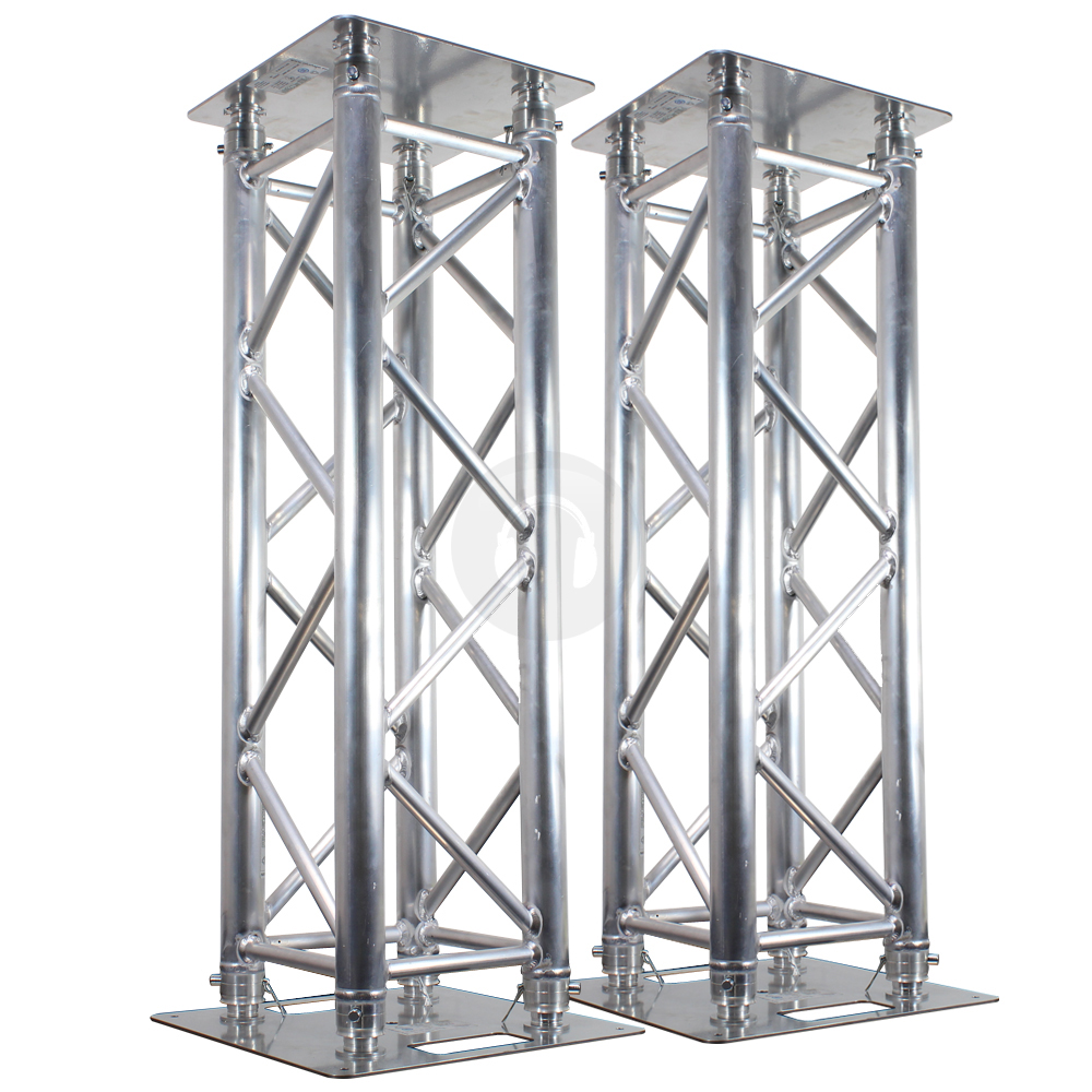 2x professional dj silver truss plinth lighting stands club party light podium ebay. Black Bedroom Furniture Sets. Home Design Ideas