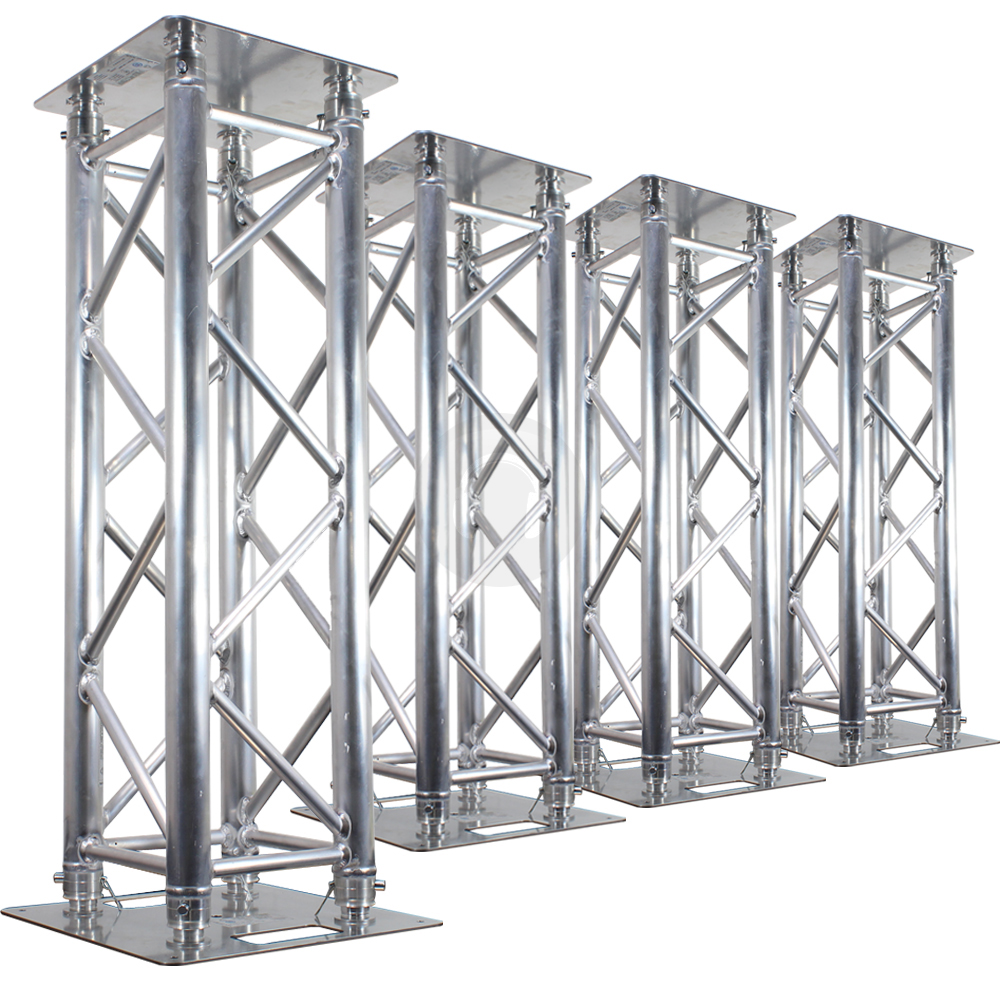 4x professional dj silver truss plinth lighting stands club party light podium ebay. Black Bedroom Furniture Sets. Home Design Ideas