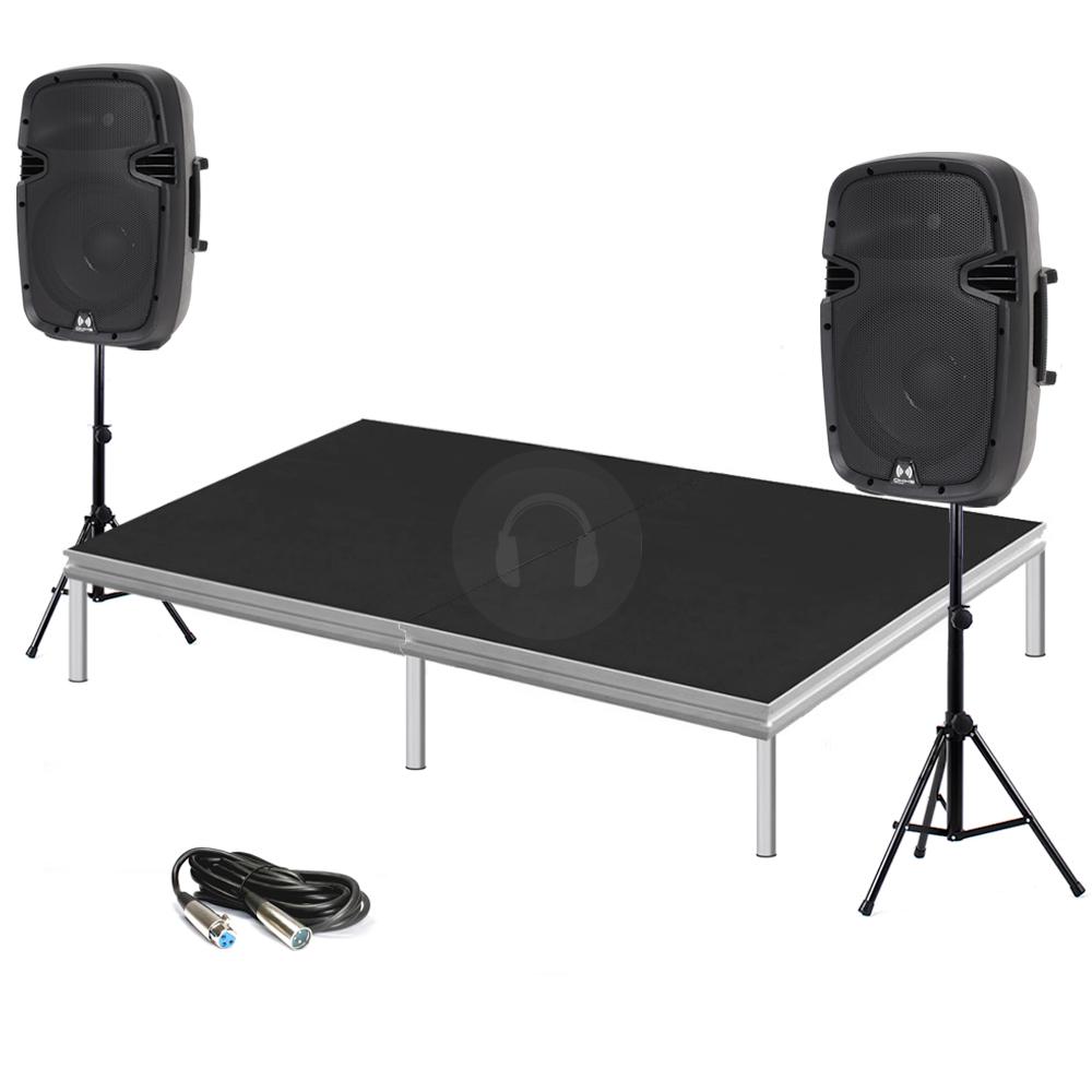 Portable staging presentation school church pa stage for Schreibtisch 2m x 1m