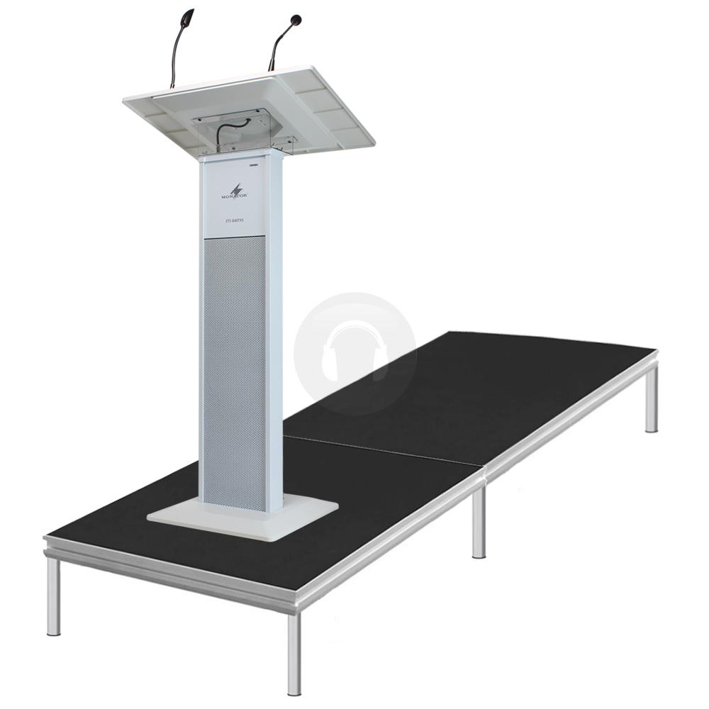 Vonyx by alustage presentation podium stage lectern 2m x for Fenetre 2m x 1m