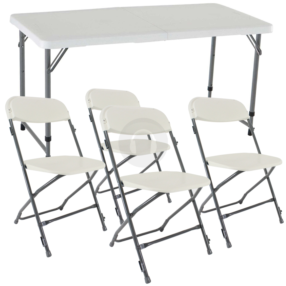 Fold In Half Portable Commercial Table Dining Chairs Set