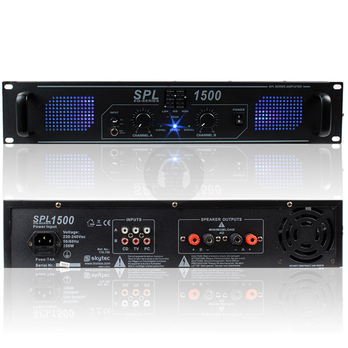 Skytec SPL1500 DJ Disco PA Amplifier 1500W