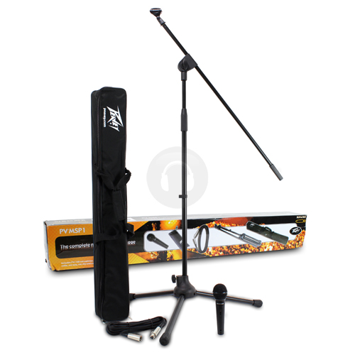 Peavey PV-MSP1 Microphone Set with Stand, Case and Cable