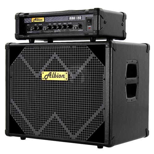 albion 180w bass guitar amp head 15 inch speaker cabinet essex ebay. Black Bedroom Furniture Sets. Home Design Ideas