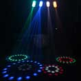 Beamz 4-Some Clear LED Moonflower Light DJ Disco Party Lighting Effects