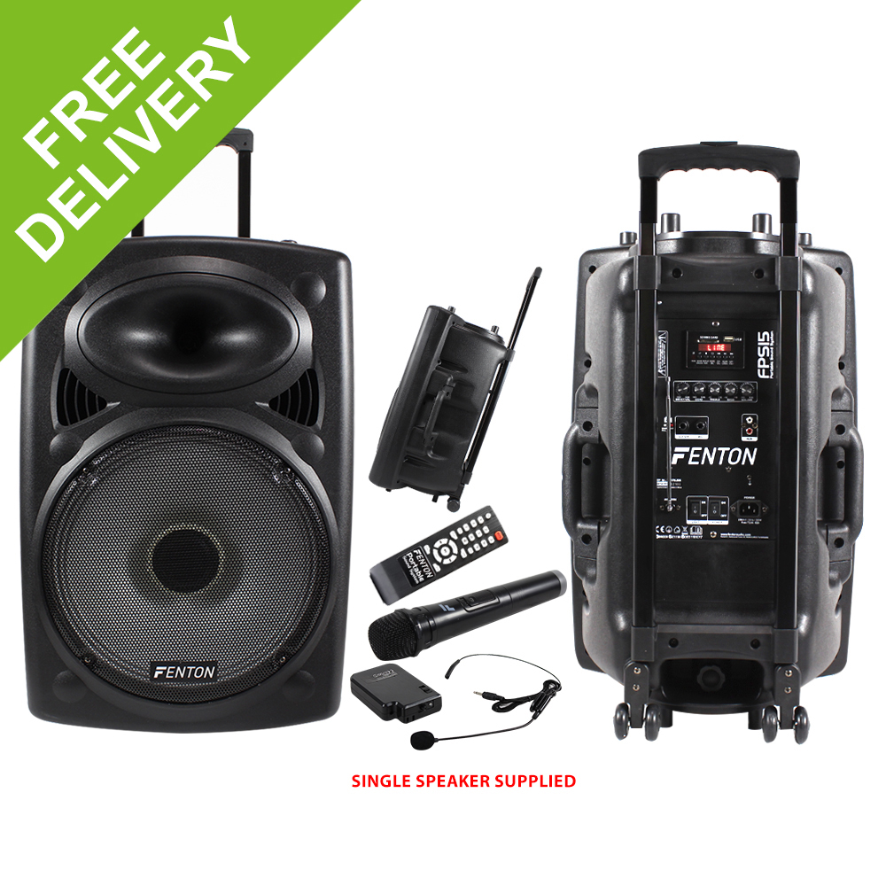 fenton fps15 usb wireless microphone portable pa system aerobics dance gym 350w ebay. Black Bedroom Furniture Sets. Home Design Ideas