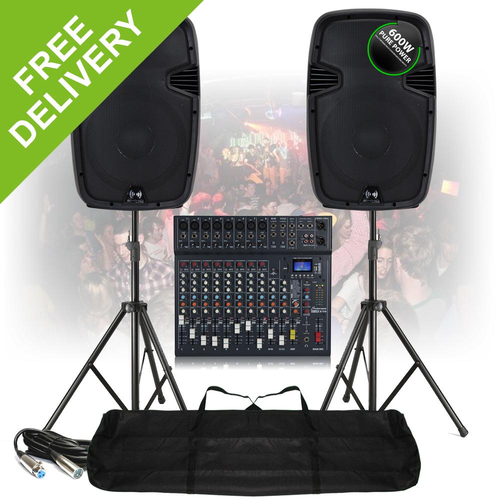 pa speaker sound system large 12 ch bluetooth dj mixer. Black Bedroom Furniture Sets. Home Design Ideas