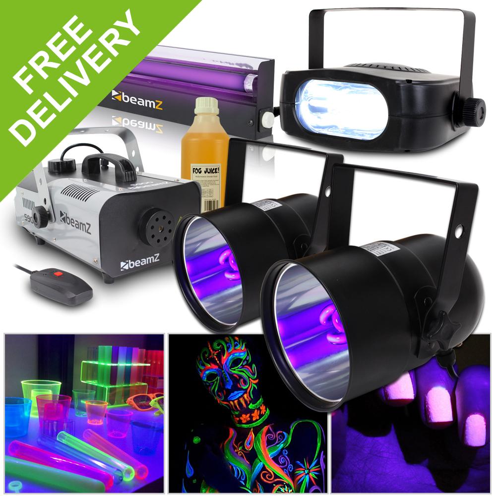 halloween lighting effects machine. Halloween Party In A Box UV Glow Light Effects Strobe Lighting Smoke Fog Machine