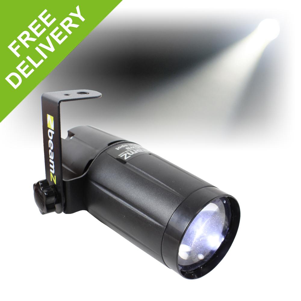 Beamz White Pin Spot Light Dj Led Bright Stage Lighting