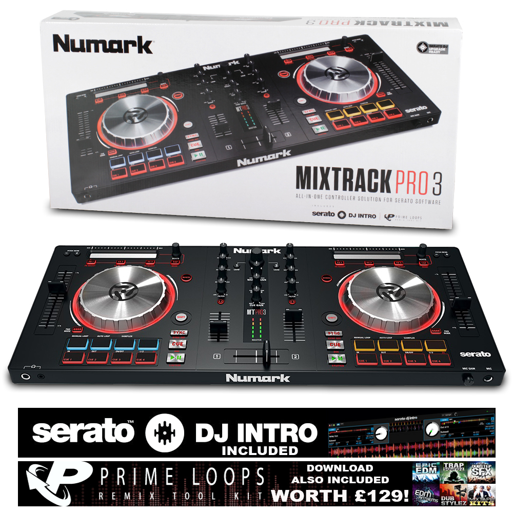 numark mixtrack pro iii digital dj mixer controller for serato ebay. Black Bedroom Furniture Sets. Home Design Ideas