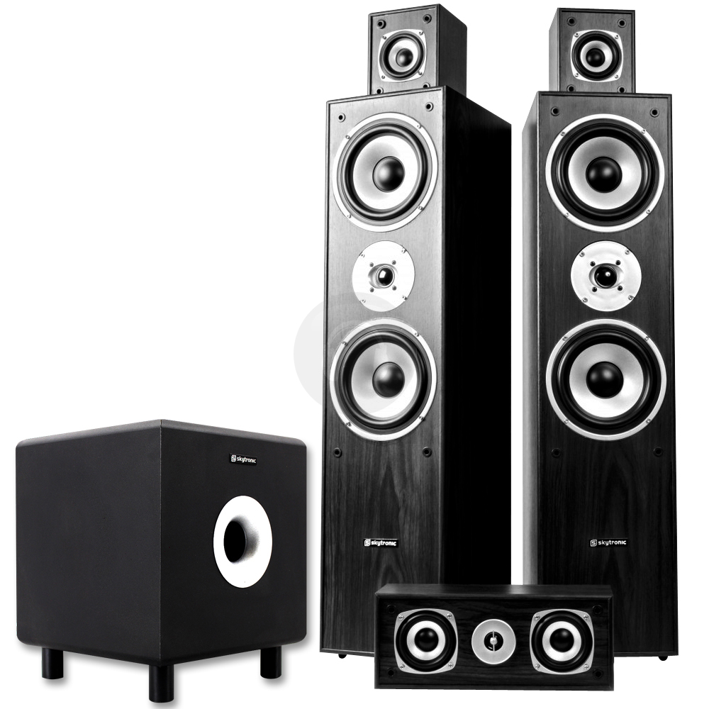 5 0 surround sound speaker system active sub home cinema hifi 1350w uk stock. Black Bedroom Furniture Sets. Home Design Ideas