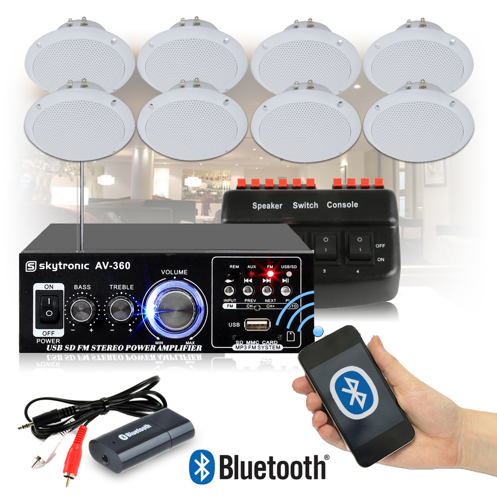 Cafe Restaurant Shop Bluetooth Amplifier Ceiling Speaker